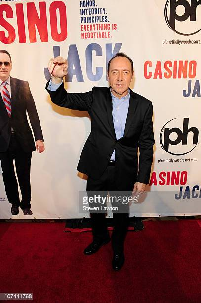 Actor Kevin Spacey arrives at the movie premiere of 'Casino Jack' at Planet Hollywood Resort and Casino on December 8 2010 in Las Vegas Nevada