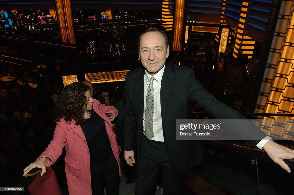 Actor Kevin Spacey arrives at the premiere of '21' at the Planet Hollywood Resort & Casino on March 12, 2008 in Las Vegas, Nevada.