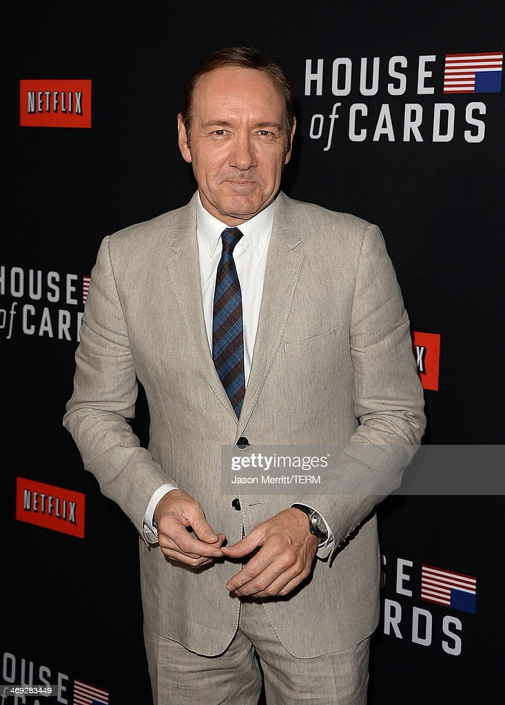 Actor Kevin Spacey arrives at the special screening of Netflix's 'House of Cards' Season 2 at the Directors Guild of America on February 13, 2014 in Los Angeles, California.