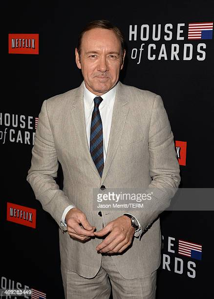 Actor Kevin Spacey arrives at the special screening of Netflix's 'House of Cards' Season 2 at the Directors Guild of America on February 13 2014 in...