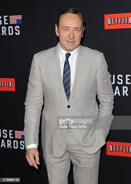 Actor Kevin Spacey arrives at the special screening of Netflix's 'House of Cards' Season 2 at Directors Guild of America on February 13 2014 in Los...