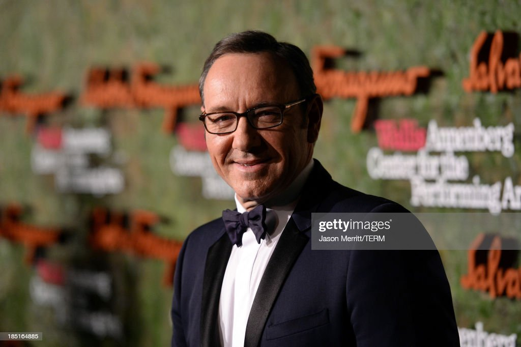 Actor Kevin Spacey arrives at the Wallis Annenberg Center for the Performing Arts Inaugural Gala presented by Salvatore Ferragamo at the Wallis Annenberg Center for the Performing Arts on October 17, 2013 in Beverly Hills, California.