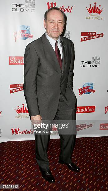 Actor Kevin Spacey attends a benefit evening for London's famed Old Vic Theatre at Planet Hollywood on April 19 2007 in New York City