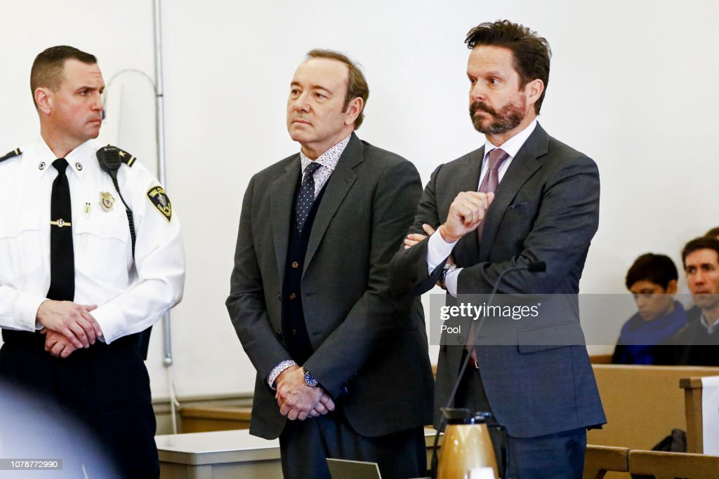 Kevin Spacey Arraigned On Sexual Assault Charge : News Photo