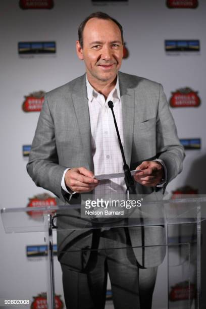 Actor Kevin Spacey attends the 1st annual Stella Artois short film project winner celebration hosted by Kevin Spacey Trigger Street and Stella Artois...