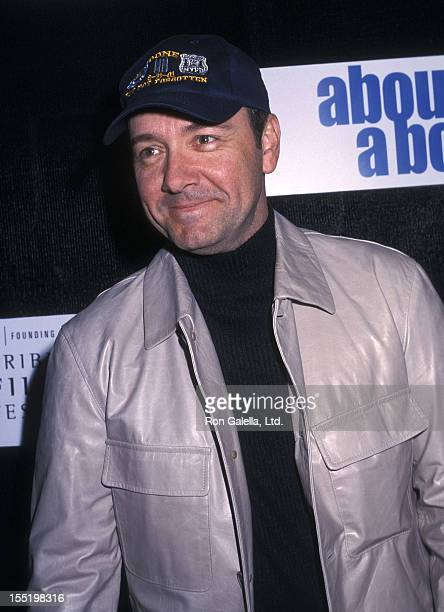 Actor Kevin Spacey attends the First Annual Tribeca Film Festival Opening Night 'About a Boy' Screening on May 8 2002 at the Tribeca Performing Arts...