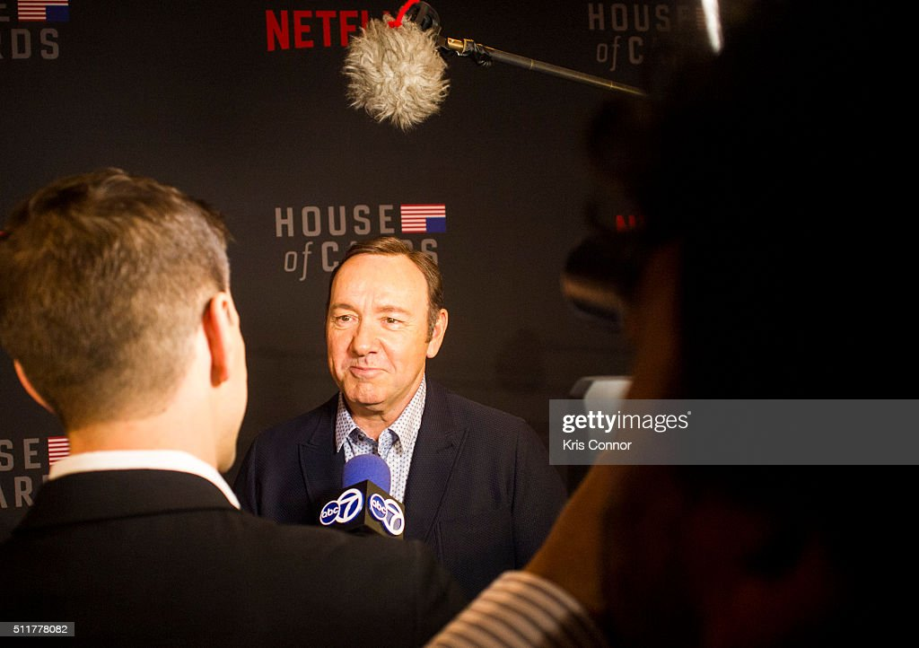 Actor Kevin Spacey Attends The U0027House Of Cardsu0027 Season 4 Premiere At The  National