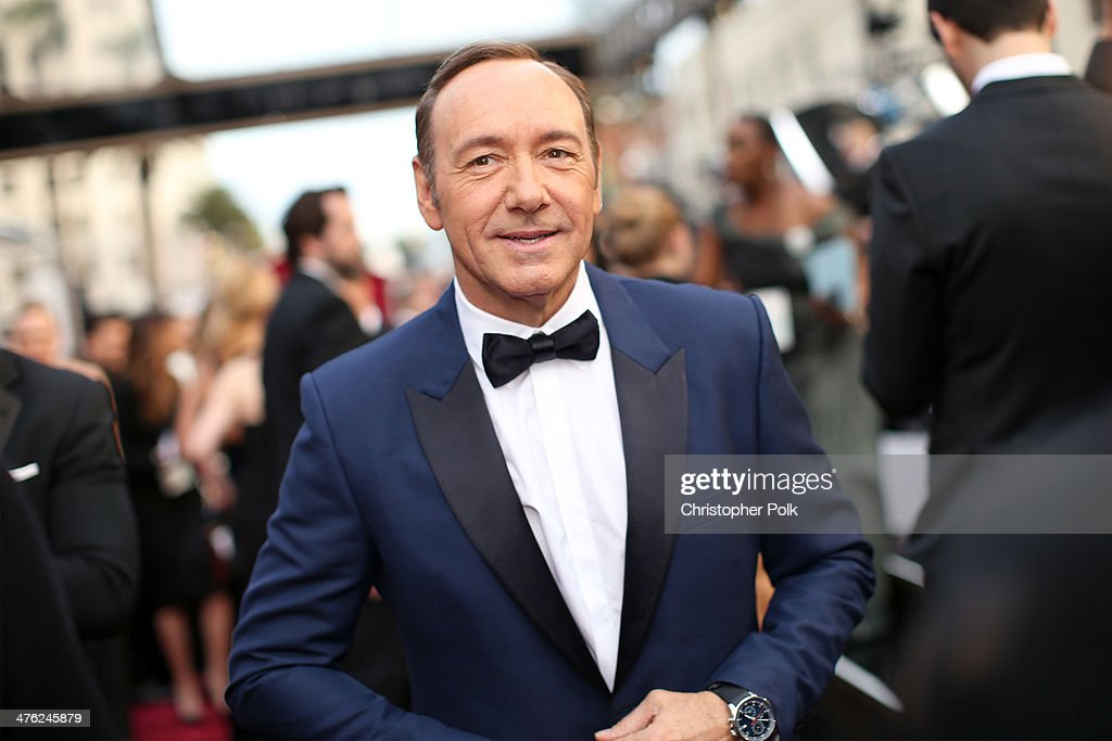 Actor Kevin Spacey attends the Oscars held at Hollywood & Highland Center on March 2, 2014 in Hollywood, California.