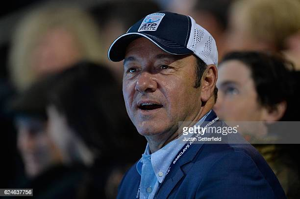 Actor Kevin Spacey attends the Singles Final between Novak Djokovic of Serbia and Andy Murray of Great Britain at the O2 Arena on November 20 2016 in...