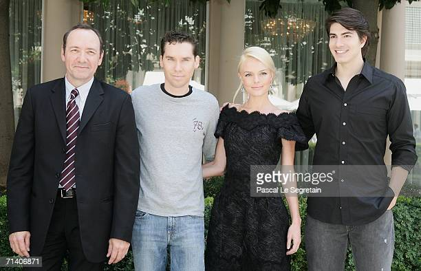 Actor Kevin Spacey director Brian Singer actors Kate Bosworth and Brandon Routh pose during the photo call for the Bryan Singer's film 'Superman...