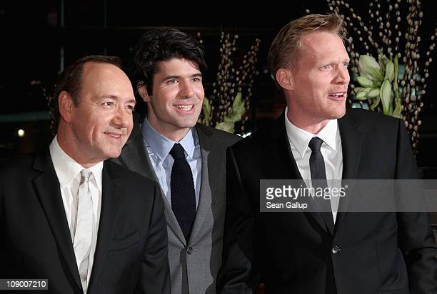 Actor Kevin Spacey director JC Chandor and actor Paul Bettany attend the 'Margin Call' Premiere during day two of the 61st Berlin International Film...