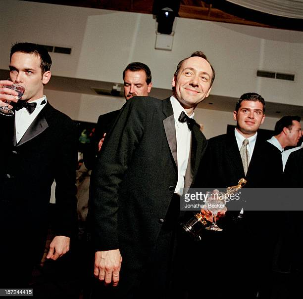 Actor Kevin Spacey is photographed for Vanity Fair Magazine on March 26 2000 at the 2000 Vanity Fair Oscar Party at Morton's in West Hollywood...