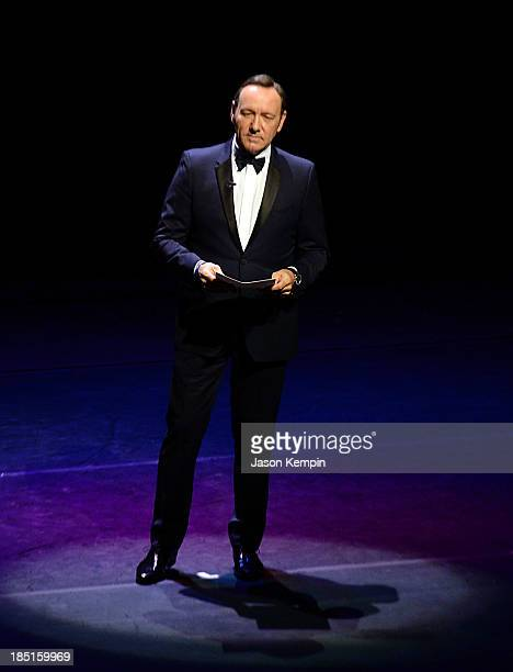Actor Kevin Spacey performs onstage during the Wallis Annenberg Center for the Performing Arts Inaugural Gala presented by Salvatore Ferragamo at the...