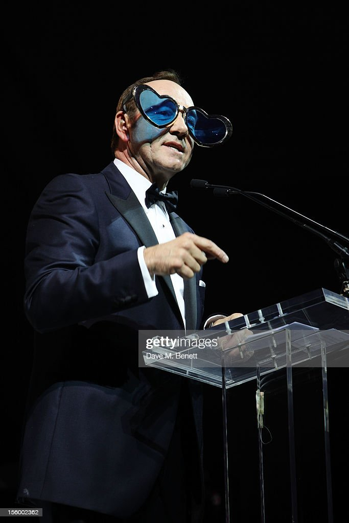 Actor Kevin Spacey speaks during the auction at the Grey Goose Winter Ball at Battersea Power Station on November 10, 2012 in London, England.