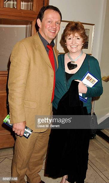 Actor Kevin Whately and his wife Madelaine Newton attend the aftershow party following the Heroes world premiere and press night at Wyndham's Theatre...