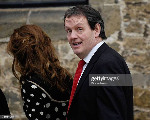 Actor Kevin Whately leaves the wedding of Billie Piper and Laurence Fox at the Parish Church Of St. Mary's on December 31, 2007 in Easebourne, West...