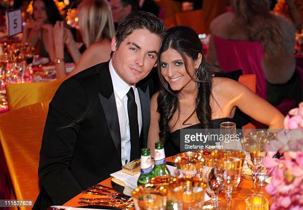 Actor Kevin Zegers and Jaime Feld attend the 16th Annual Elton John AIDS Foundation Oscar Party sponsored by Chopard at the Pacific Design Center on...