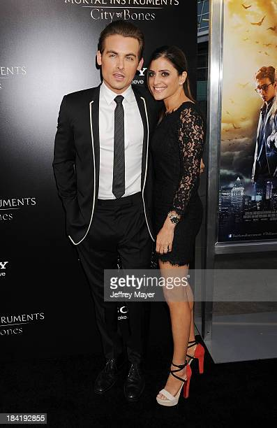 Actor Kevin Zegers and wife Jamie Feld arrive at the Los Angeles premiere of 'The Mortal Instruments City Of Bones' at ArcLight Cinemas Cinerama Dome...