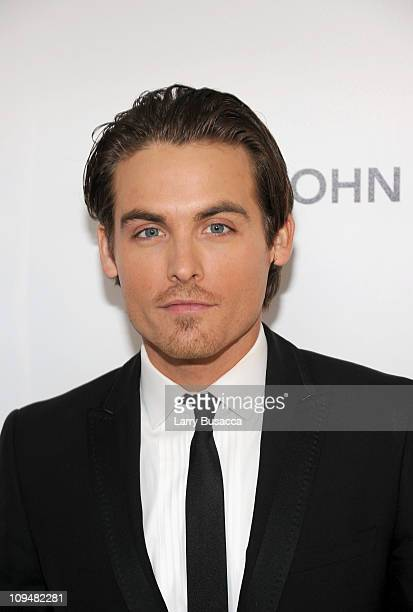 Actor Kevin Zegers arrives at the 19th Annual Elton John AIDS Foundation Academy Awards Viewing Party at the Pacific Design Center on February 27...