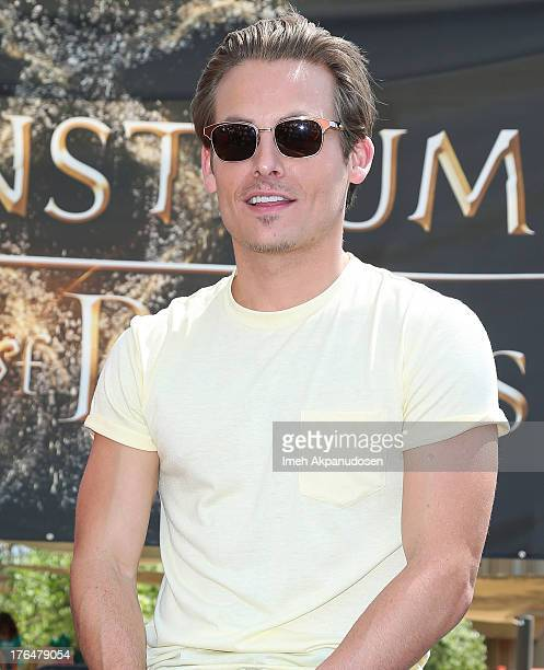 Actor Kevin Zegers attends Screen Gems Constantin Films' 'The Mortal Instruments City Of Bones' meet and greet at The Americana at Brand on August 13...