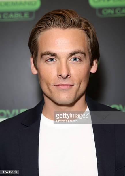 Actor Kevin Zegers attends 'The Colony' at The Movies On Demand Lounge during ComicCon International 2013 at Hard Rock Hotel San Diego on July 19...