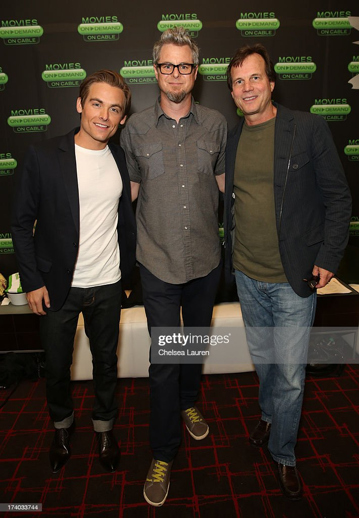 Actor Kevin Zegers, director Jeff Renfroe, and actor Bill Paxton attends 'The Colony' at The Movies On Demand Lounge during Comic-Con International 2013 at Hard Rock Hotel San Diego on July 19, 2013 in San Diego, California.