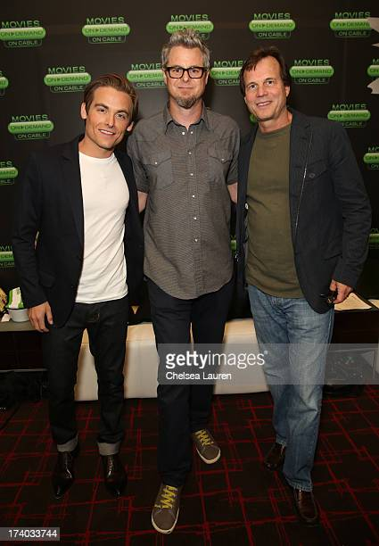 Actor Kevin Zegers director Jeff Renfroe and actor Bill Paxton attends 'The Colony' at The Movies On Demand Lounge during ComicCon International 2013...