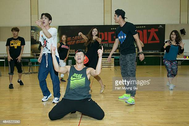 Actor Key of South Korean boy band SHINee performs during the press rehearsal for the musical 'In The Heights' on August 19 2015 in Seoul South Korea...