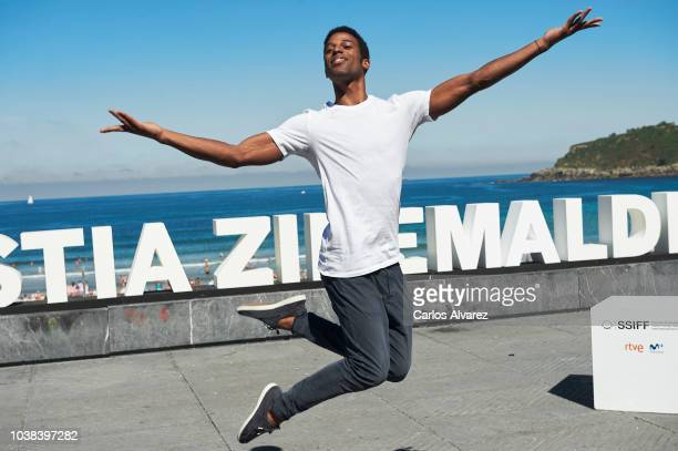Actress Laura de la Uz actor Carlos Acosta director Iciar Bollain and actor Keyvin Martinez attend 'Yuli' photocall during 66th San Sebastian...