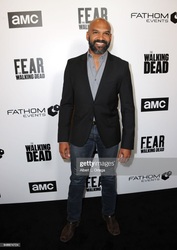 Actor Khary Payton arrives for the Fathom Events And AMC's 'Survival Sunday: The Walking Dead And Fear The Walking Dead' held at AMC Century City 15 theater on April 15, 2018 in Century City, California.