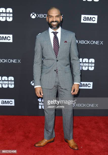 Actor Khary Payton attends the 100th episode celebration off 'The Walking Dead' at The Greek Theatre on October 22 2017 in Los Angeles California