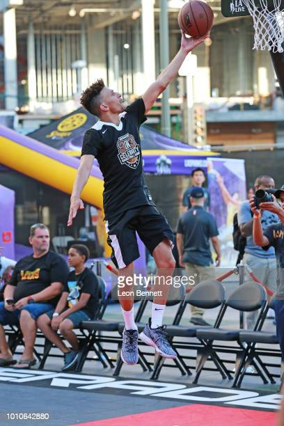 Actor Khleo Thomas attends The Nike 3ON3 Celebrity Basketball Game at LA LIVE Microsoft Square on August 3 2018 in Los Angeles Californi