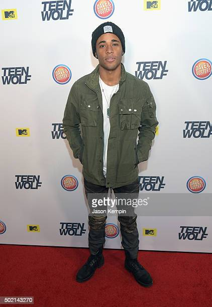 Actor Khylin Rhambo attends the MTV Teen Wolf Los Angeles Premiere Party on December 20, 2015 in Hollywood, California.