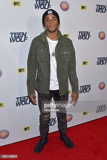 Actor Khylin Rhambo attends the MTV Teen Wolf Los Angeles premiere party at Dave & Busters on December 20, 2015 in Hollywood, California.