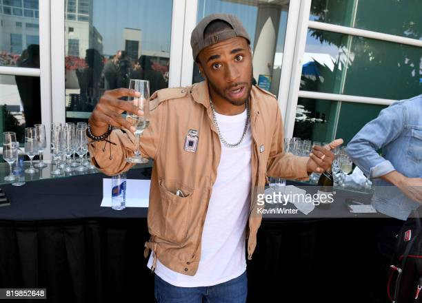 Actor Khylin Rhambo poses backstage after the Hall H panel during Comic-Con International 2017 at San Diego Convention Center on July 20, 2017 in San...