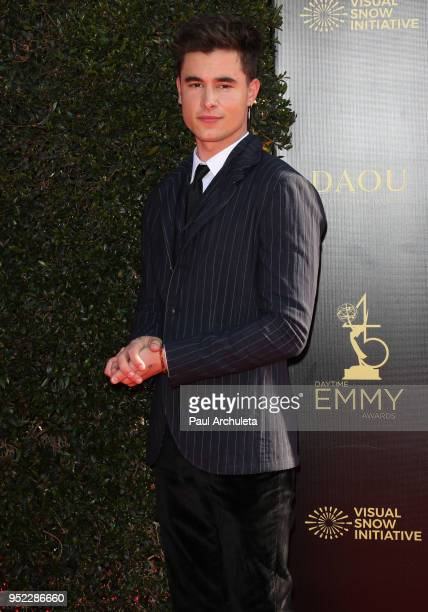Actor Kian Lawley attends the 45th Annual Daytime Creative Arts Emmy Awards at the Pasadena Civic Auditorium on April 27 2018 in Pasadena California