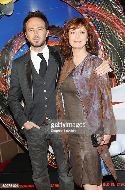 Actor Kick Gurry and actress Susan Sarandon attend the premiere of Speed Racer during the 2008 Tribeca Film Festival on May 3 2008 in New York City