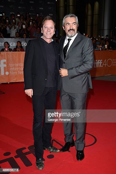 Actor Kiefer Sutherland and director Jon Cassar attend the Forsaken premiere during the 2015 Toronto International Film Festival at Roy Thomson Hall...