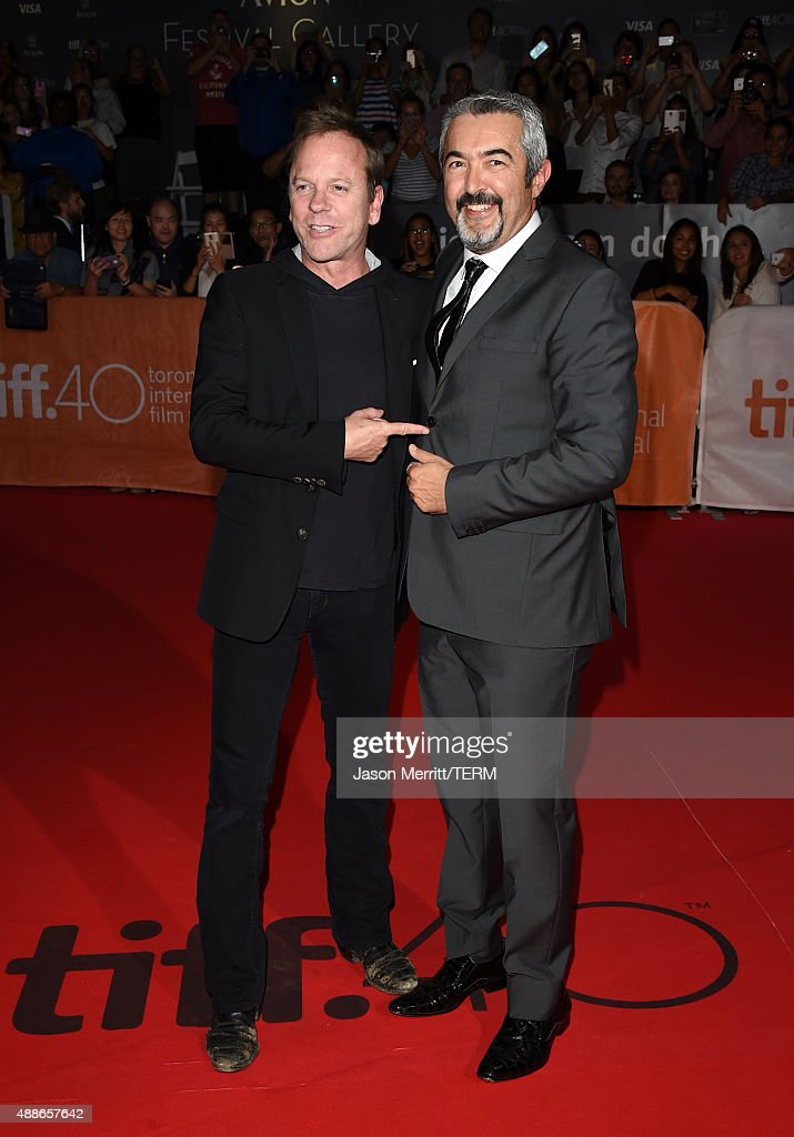 Actor Kiefer Sutherland (L) and Executive Producer / Director Jon Cassar attend the 'Forsaken' premiere during the 2015 Toronto International Film Festival at Roy Thomson Hall on September 16, 2015 in Toronto, Canada.