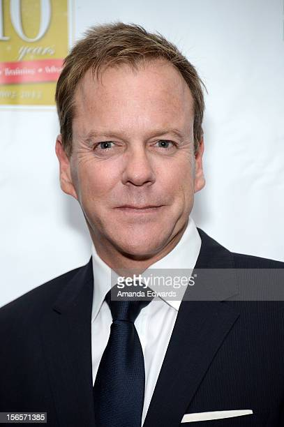 Actor Kiefer Sutherland arrives at the 10th Annual Opening Doors Awards benefiting the Millennium Momentum Foundation at Dorothy Chandler Pavilion on...