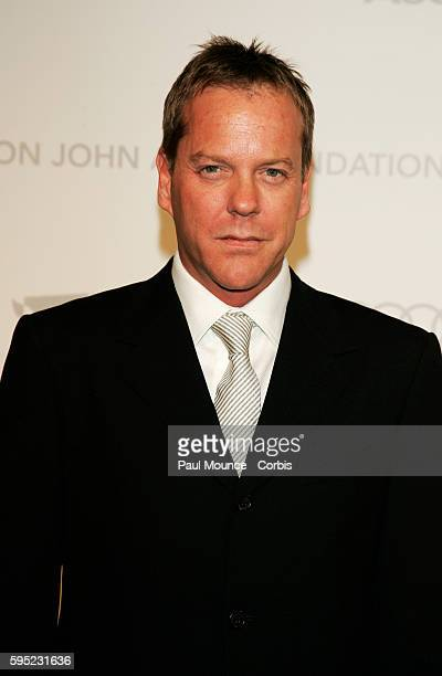 Actor Kiefer Sutherland arrives at the 15th Annual Academy Awards® Viewing Party and AfterParty to benefit the Elton John Aids Foundation held at the...