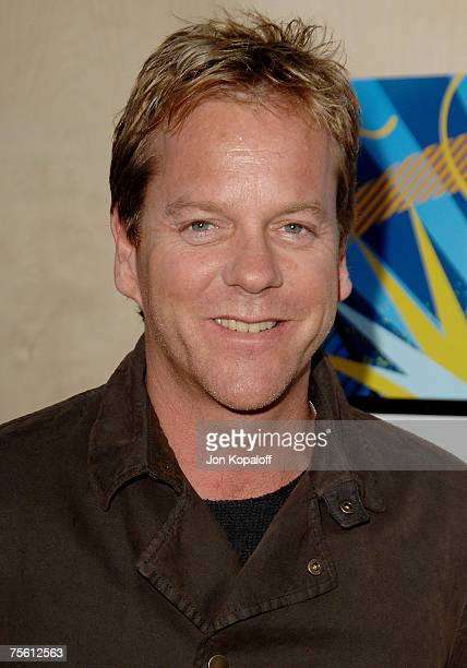 Actor Kiefer Sutherland arrives at the 2007 FOX AllStar Television Critics Association Press Tour Party at Pacific Park on the Santa Monica Pier on...