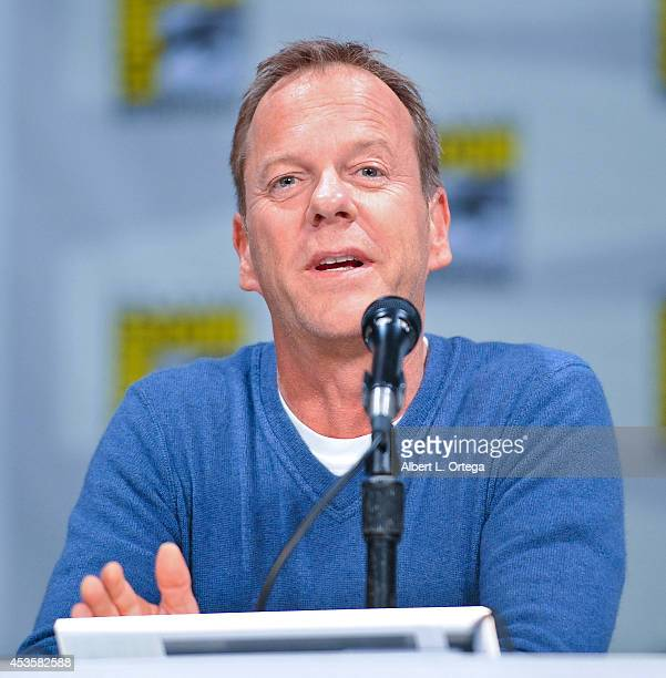 Actor Kiefer Sutherland at the '24 Live Another Day' Panel on day 1 of ComicCon International 2014 held at San Diego Convention Center on July 24...