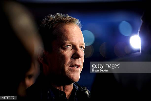 Actor Kiefer Sutherland attends 24 Live Another Day World Premiere Event for Fox on Intrepid Sea Air Space Museum on May 2 2014 in New York City