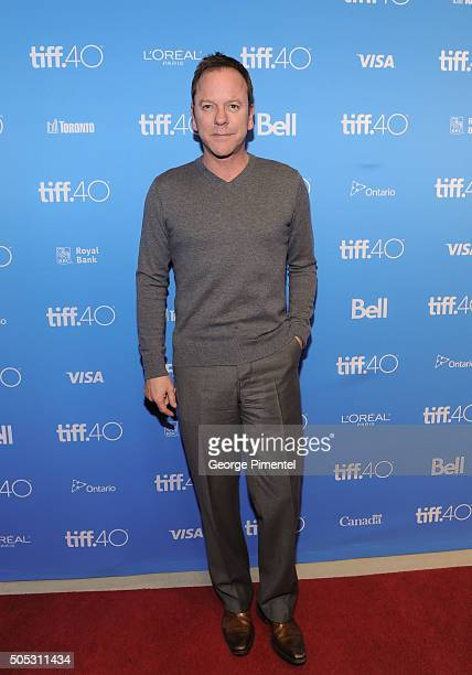 Actor Kiefer Sutherland attends 'In Conversation with Kiefer Sutherland' as part of the Canada's Top Ten Film Festival held at TIFF Bell Lightbox on...
