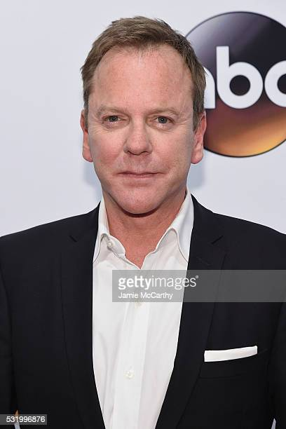 Actor Kiefer Sutherland attends the 2016 ABC Upfront at David Geffen Hall on May 17 2016 in New York City