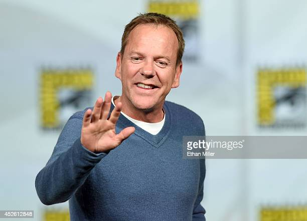 Actor Kiefer Sutherland attends the '24 Live Another Day' panel during ComicCon International 2014 at the San Diego Convention Center on July 24 2014...