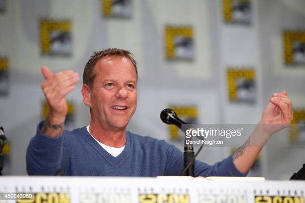 """Actor Kiefer Sutherland attends the """"24: Live Another Day"""" panel during Comic-Con International at San Diego Convention Center on July 24, 2014 in..."""
