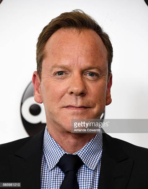 Actor Kiefer Sutherland attends the Disney ABC Television Group TCA Summer Press Tour on August 4, 2016 in Beverly Hills, California.