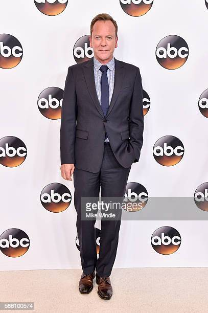 Actor Kiefer Sutherland attends the Disney ABC Television Group TCA Summer Press Tour on August 4 2016 in Beverly Hills California